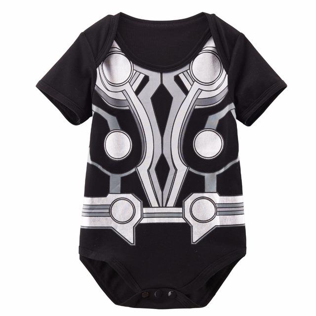 Bébé Filles Garçons Drôle Super-Héros Body À Manches Courtes Hulk Wolverine Wonder Woman Harley Quinn Goku