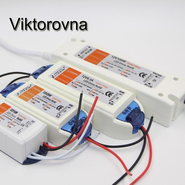 LED Driver adapter AC 110V 120V 220V 230V to DC12V Switch Power Supply Transformers for SMD 5630 5050 3528 3014 LED Strip light