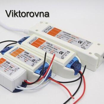 LED controlador de adaptador AC 110 V 120 V 220 V 230 V a DC12V interruptor fuente de alimentación transformadores para SMD 5630, 5050, 3528, 3014 LED tira de luz