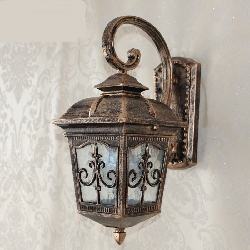 A1 Special offer outdoor wall lamp European style garden courtyard lamp waterproof outdoor balcony lamp wall lamp alum