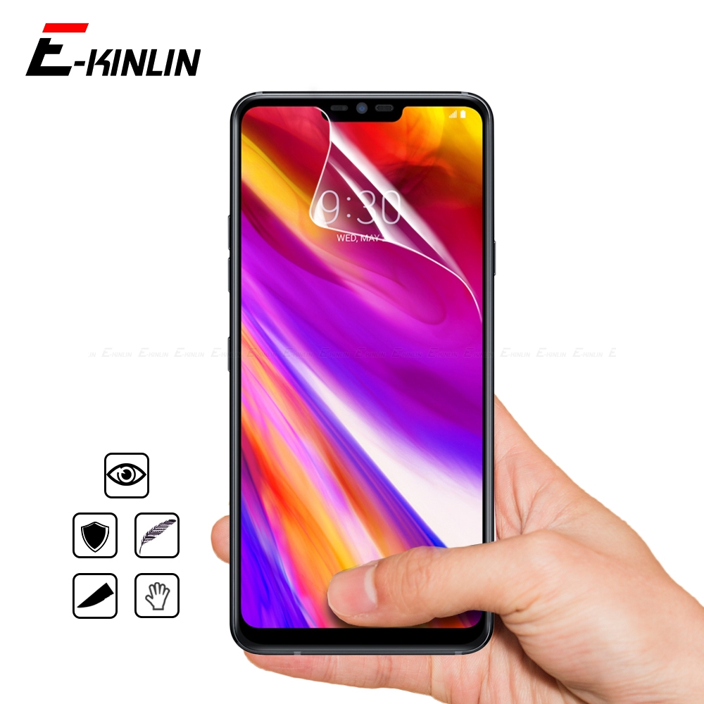 HD Soft Display Nano Explosion Proof Screen Protector Protective Guard Film For LG Q7 Q6 G7 Plus ThinQ Prime Noir Q7a Q6a Alpha image