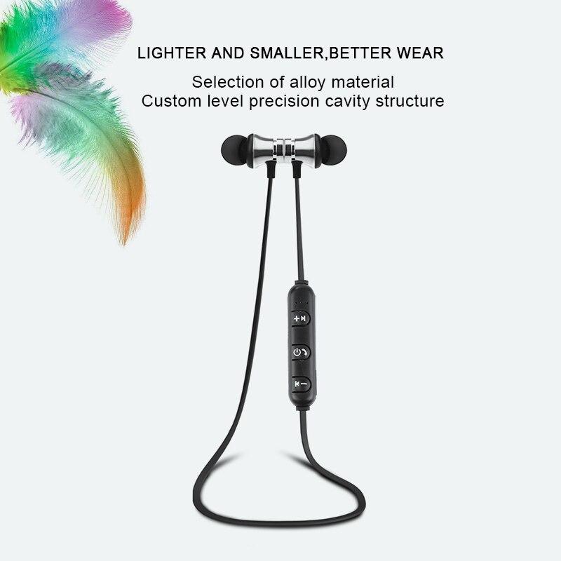 magnetic attraction bluetooth earphone wireless headphones (3)