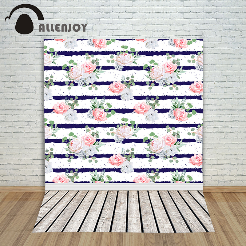 Allenjoy photo background Pink rose white black striped wood baby backgrounds for photo studio photography цена