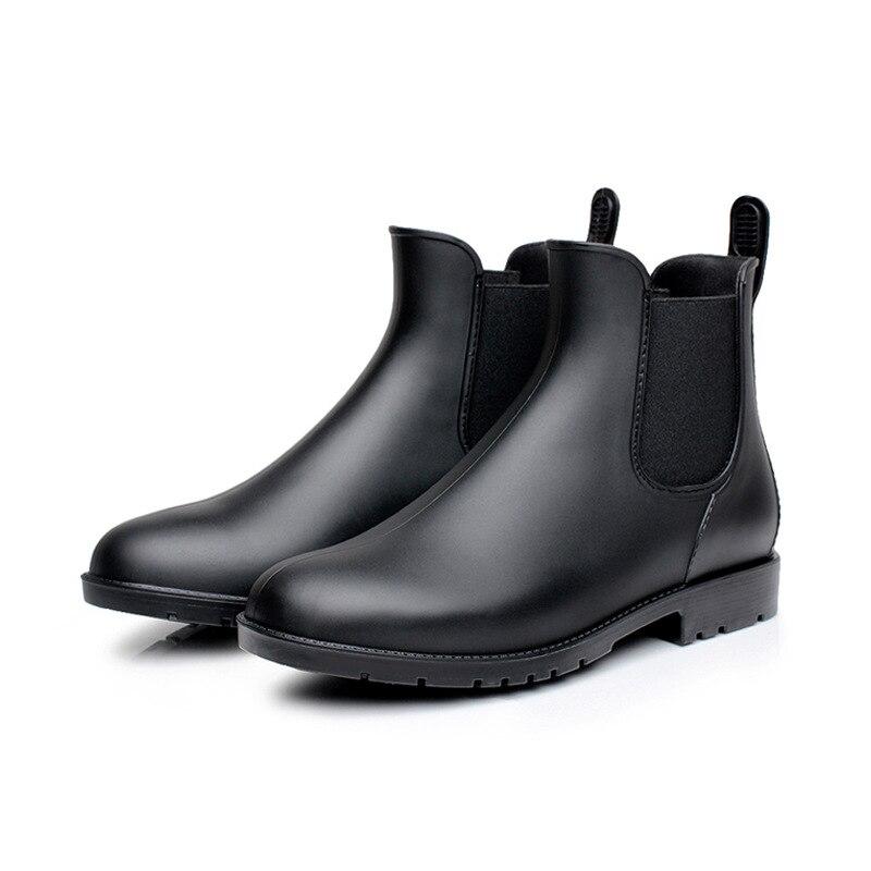 Quatre marron En De Femmes Chaussures Wanita Cheville Plus Caoutchouc Bottes Tailles Sepatu Noir Saison Pluie xq6nzY