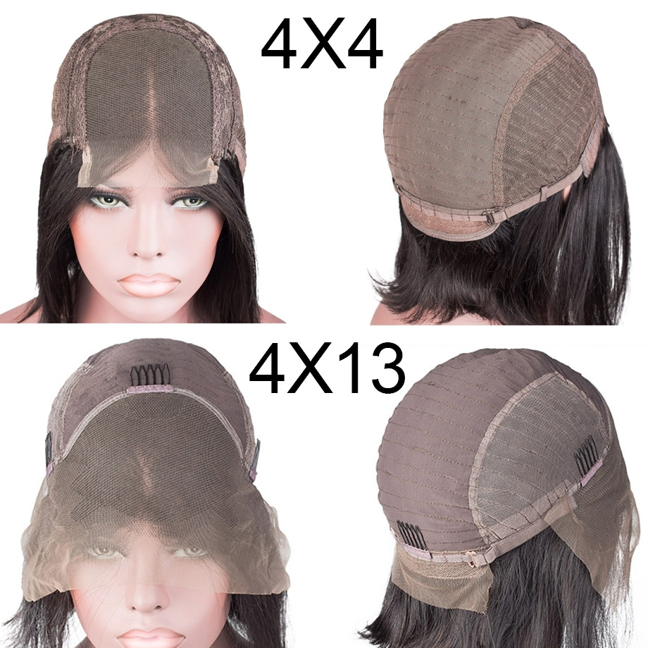 Short-Lace-Front-Human-Hair-Wigs-4x4-Closure-wig-Full-and-Thick-For-Black-Women-Natural