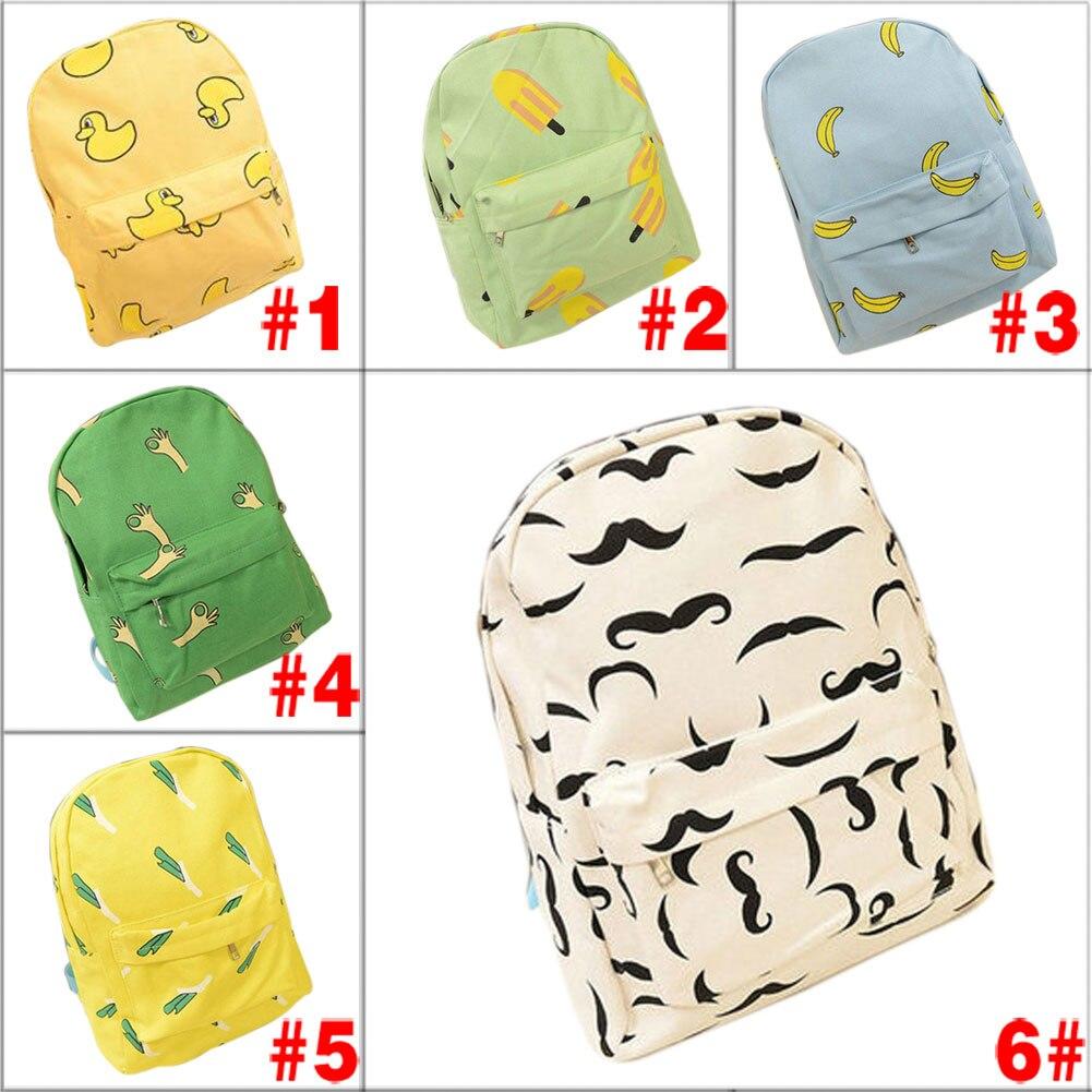 Hot  Canvas Banana Women Backpack Small Student Student Bag Shoulder Bag