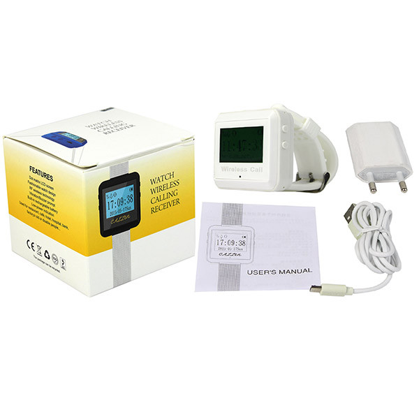 White Wireless Calling Paging System Watch Receiver (9)