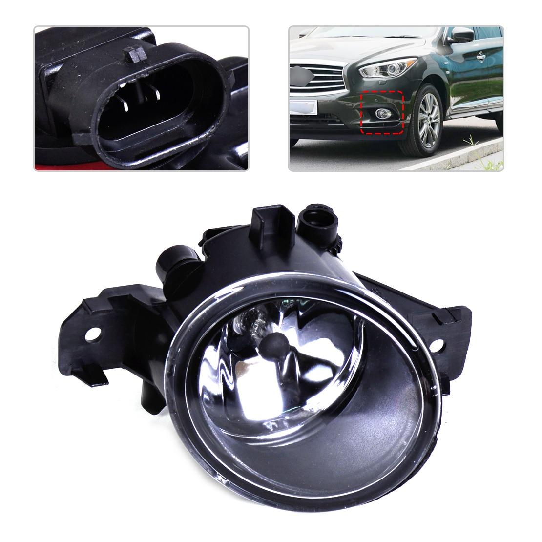 DWCX 26155-89927 Left Fog Light Lamp + Halogen Bulb for Nissan Altima Sentra Maxima Rogue Versa Infiniti G37 QX60 JX35 M35