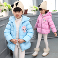 New Arrival Children Winter Warm Coat Baby Girls Cotton Padded Jacket with Fleece Child Hooded Winter Coat V-0266