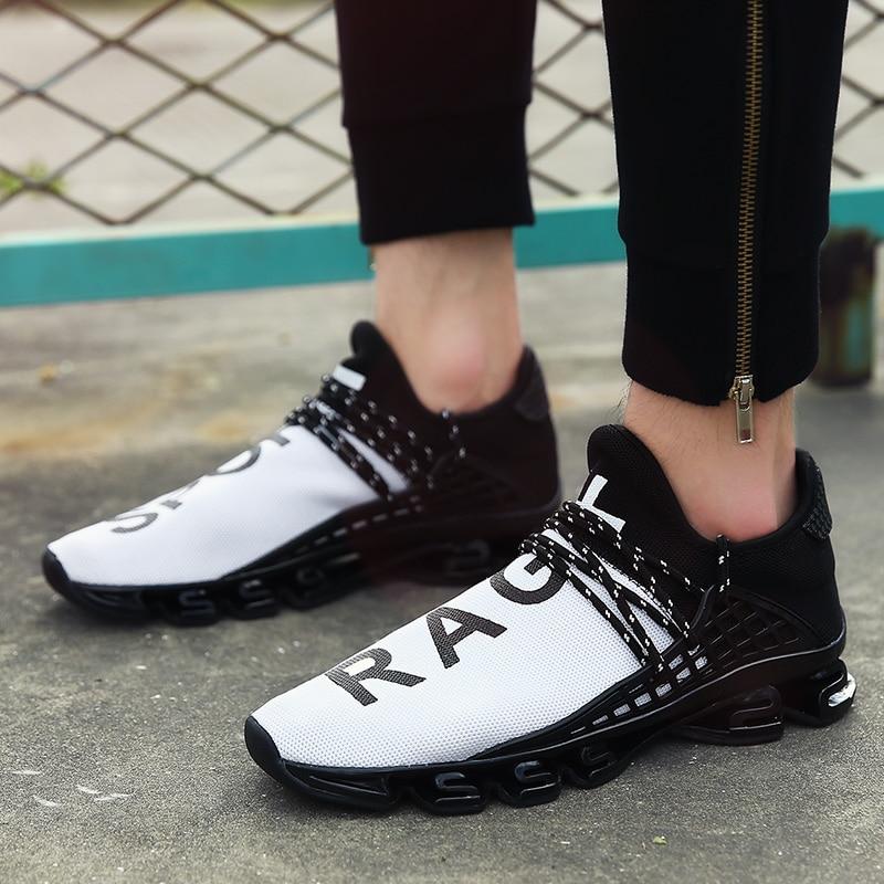 058af1625 Tenis Dos Ocasional Sapatos white Malha red Homens Venda Primavera  Masculinos 2018 Quente Slip Black Masculino Do Desenhador Respirável De Luxo  ...