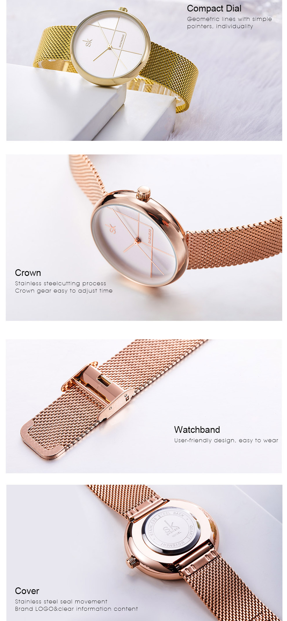 Sk Creative Luxury Women's Bracelet Watch 11