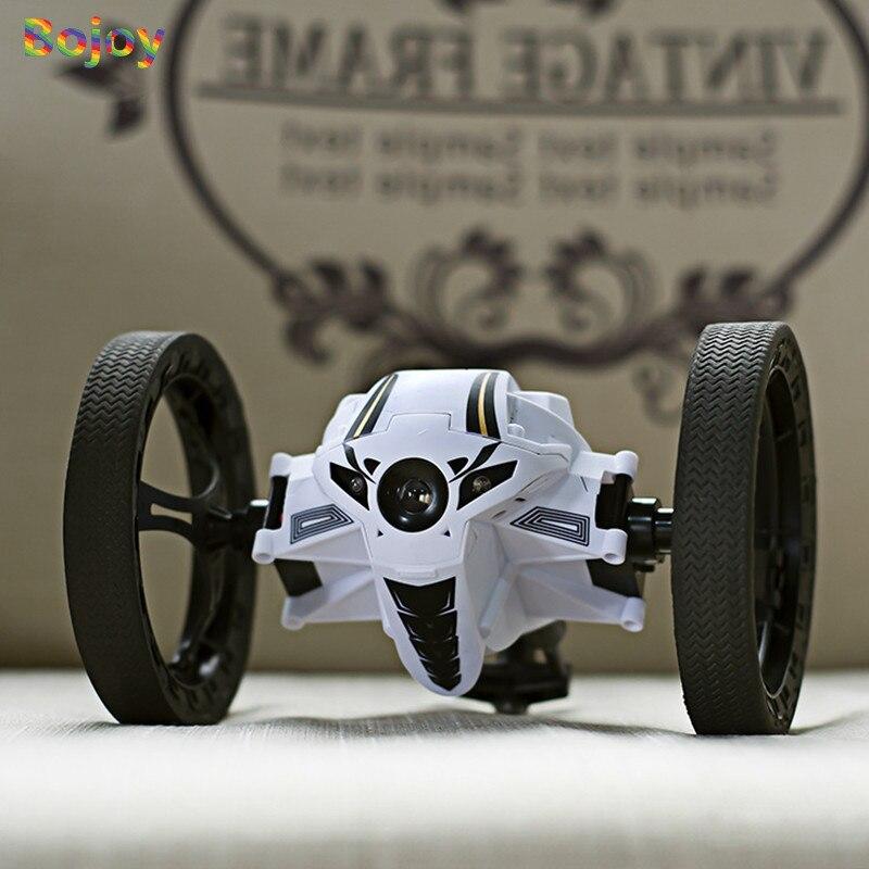 Voiture de rebond de voiture RC 2.4G jouets à télécommande voiture sautante avec Rotation de roue Flexible LED veilleuses voiture Robot RC pour cadeau garçon - 5