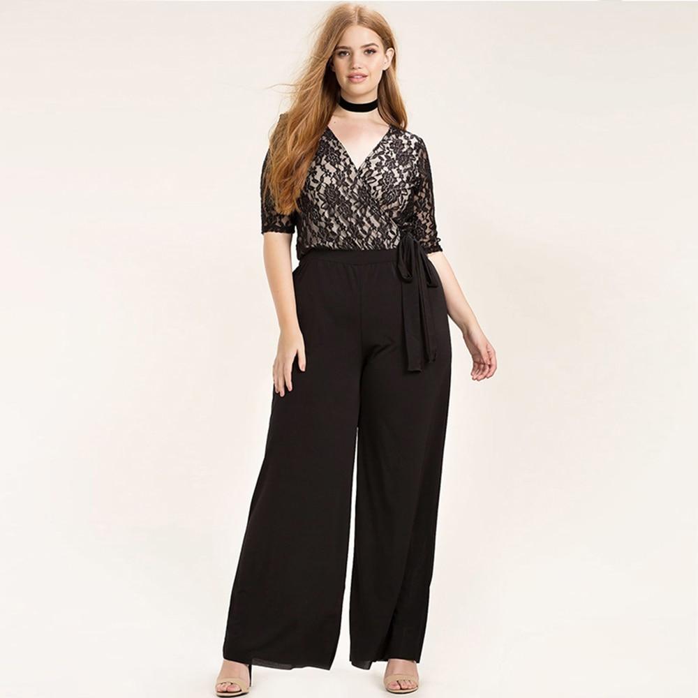 Kissmilk Women Plus Size Beklædning Casual Black Wrap Lace Patchwork - Dametøj - Foto 4