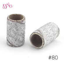 BnG 100pcs Nail Sanding Bands Wear-resisting File 80# 120# 150# 240# Manicure Pedicure Nail Tool Machine Replacement Drill Bits