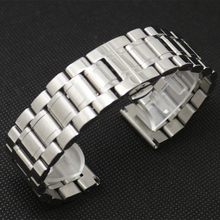 New Promotion Watch Strap 28mm Stainless Steel Watchband for Wrist Watch with Push Botton Hidden BUTTERFLY
