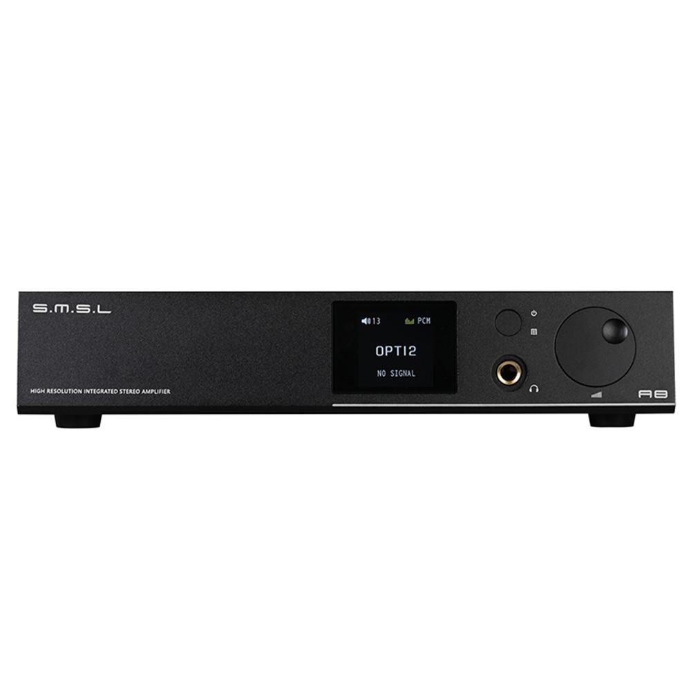 SMSL A8 125Wx2 HIFI Audio Digital Power Amp/DAC/Headphone Amp ICEpower Module AK4490 DAC PCM 768khz DSD512 TPA6120 All In One smsl sd 793ii dir9001 pcm1793 opa2134 coaxial optical mini dac headphone amp black color
