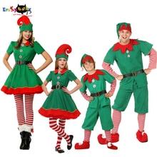 Eraspooky Elfo di Natale Costumi Per Adulti Babbo natale Cosplay Famiglia  Vestiti di Corrispondenza di Carnevale 4725b88ad88