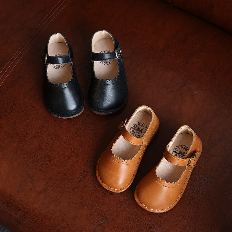 Childrens Leather Shoes Buckle Decoration 2018 Spring And Autumn New Korean Baby Shoes Retro Girls Shoes