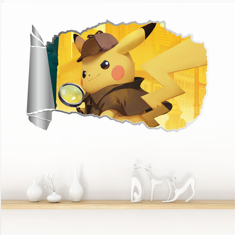 Pokemon Hole in the Wall 3D Effect Wall Sticker Wall Decals
