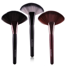 Professional 1pc Soft Makeup Large Fan Brush Blush Loose Powder Foundation Make Up Tool Big Fan Cosmetics Brushes rose gold powder blush brush professional single soft face make up brush large cosmetics makeup brushes foundation make up tool