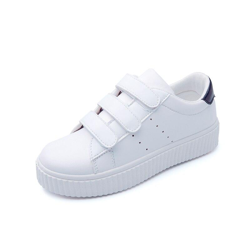 Moda Nuevas mujeres de la Plataforma Blanca Zapatos 2017 Zapatos Casuales de Cue