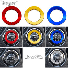 Ceyes Car Start Stop Button Decoration Ignition Ring Accessories Styling Fit For Infiniti Q50 Q60 QX60 For Nissan Engine Sticker distributor point ignition fit a12 datsun 1200 for nissan b110 b210 b310 b120 for nissan a 12 engine a14 a15 distributor