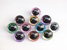 20pcs 12mm/14mm/16mm/20mm/25mm ברור טרפז פלסטיק בטיחות צעצוע עיניים + גליטר בדים לא ארוג יכול לבחור גודל וצבע