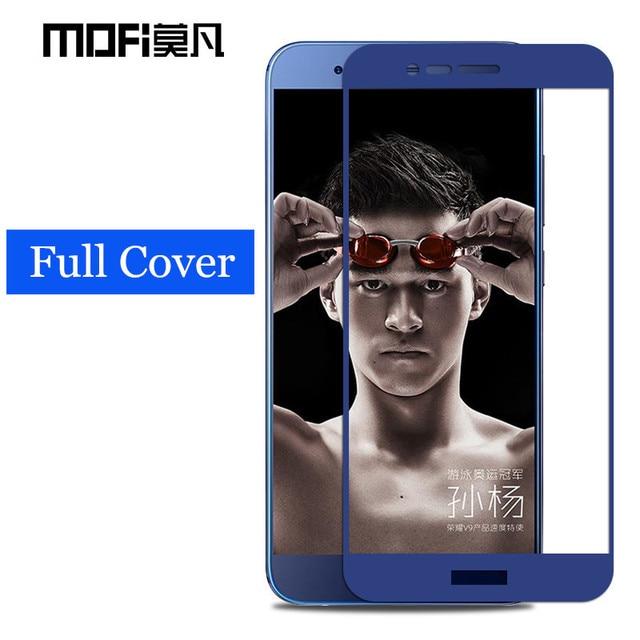 "Huawei honor v9 glass tempered MOFi original Huawei honor 8 pro screen protector full cover blue honor v9 glass film 5.7"""