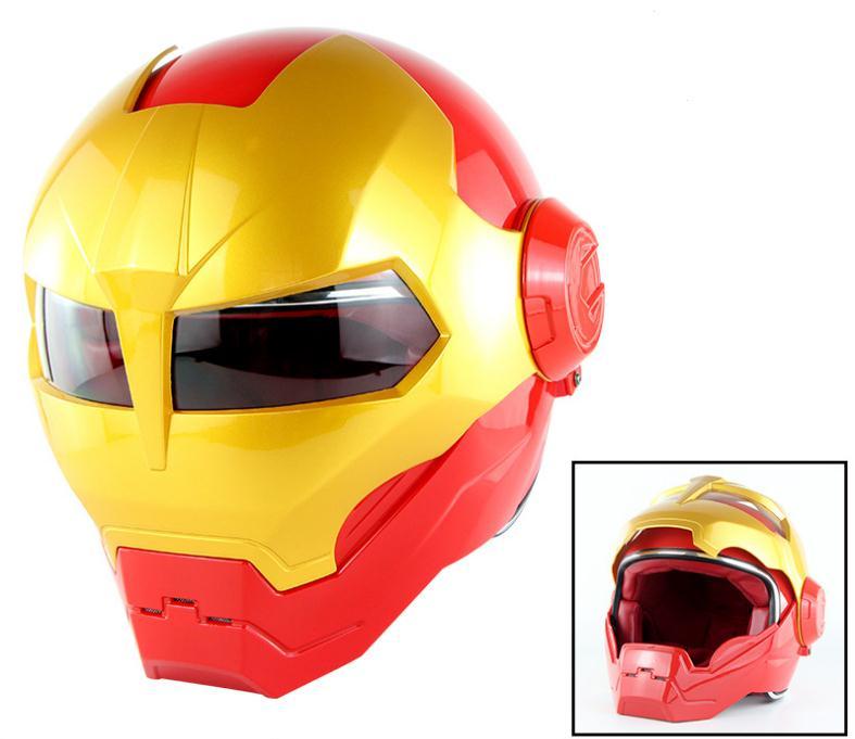 Nouveau gris SOMEN IRONMAN fer homme casque moto casque rétro demi casque visage ouvert casque 515 ABS casque motocross