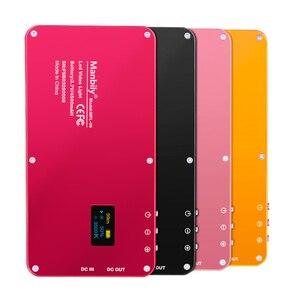 Image 2 - Cep Alüminyum Kısılabilir OLED Ekran 180 Adet LED Video Işığı ile Pil CRI96 + Iki Renk Vlog Dslr olarak Aputure AL MX Iwata