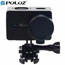 Ação do esporte câmera carcaça da liga de alumínio caixa de protecção com lente tampa protetora para xiaomi xiaoyi yi ii