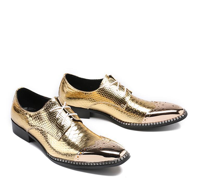 VIVODSICCO Business Men Dress Shoes Fashion Style Man Snake Leather Shoes Social Sapato Male Oxfords Flat Work Paty Wedding Shoe