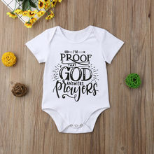 Newborn Summer 2019 Baby Girl Boy Bodysuit Casual Letter Print Baby Girl Kid Clothes Baby Bodysuits Girls Boys Newborn Onesie(China)