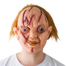 Горячая Хэллоуин страшная противная виниловая кровавая маска с языком призрака костюм вечерние реквизит