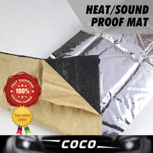 8pcs CAR Heat Proof Mat 6mm FOIL Deadening SOUND Control Shield PAD INSULATION Exhaust Deadener Muffler BLANKET