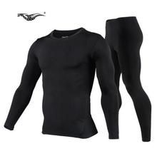 New 2017 Men's Fleece Thermal Outdoor Sports Underwear Bicycle Winter Warm Base Layers Tight Long Johns Top & Pants Set