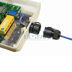 Image 5 - Connecteur RJ45 étanche CAT6, Ethernet LAN RJ 45 femelle M25 tête droite blindée et pas de prise étanche à leau blindée avec 2 couvercles