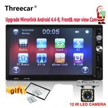 Car Radio Mirrorlink Android 2din Universal 1024 600 Bluetooth USB FM Front rear font b Camera