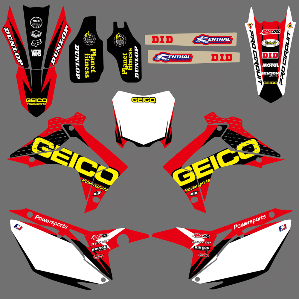 Motorcycle Decals Graphics Sticker Kit For Honda CRF250R CRF250 2014 2015 <font><b>2016</b></font> 2017 CRF450R CRF450 2013-16 <font><b>CRF</b></font> 250R 250 <font><b>450R</b></font> 450 image