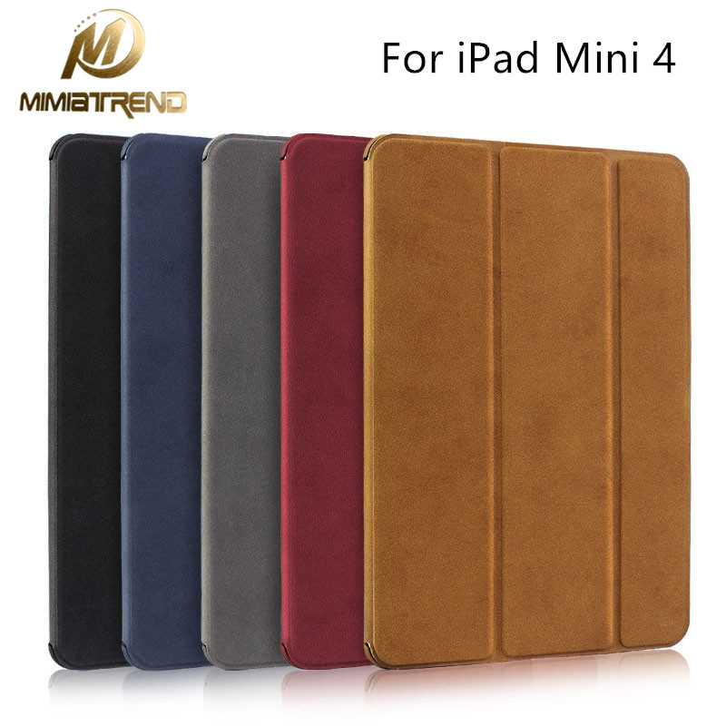Mimiatrend For iPad mini 4 Case Ultra-thin PU Leather Stand Cover Capa For Apple iPad mini 4 Case Wake Up/Sleep Function case for apple ipad mini 4 tablet case ipad mini4 ipad mini iv 7 9 pu leather ultra thin slim stand cover colorful painted