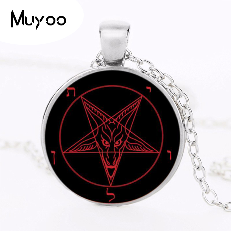 Baphomet Pentagram Devil Satan Goat Head Occult Neclace Silvered Chain Pendant Strengthening Sinews And Bones Jewellery & Watches