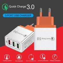 Быстрая зарядка QC3.0 Смарт Быстрый 3 зарядное устройство USB 5 V 3A для Iphone 7 8 ЕС plug телефон быстрое зарядное устройство зарядки для Xiaomi samsung huawei