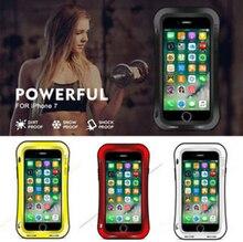 الحب MEI قوية خزائن هاتف آيفون 7 8 Plus للصدمات الألومنيوم معدن مقاوم للماء في الهواء الطلق خزائن هاتف آيفون 5 5s 6 6S زائد غطاء