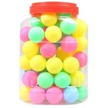 Высококачественный мячик для пинг-понга s Ассорти бесполых настольных теннисных пластиковых шаров оптом красочный пластиковый бесшовный мячик для пинг-понга