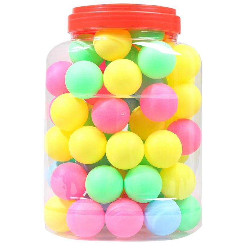 Fine Quality Ping Pong Balls Assorted Wordless Table Tennis Plastic Ball Bulk Colorful Plastic Seamless Ping Pong Ball