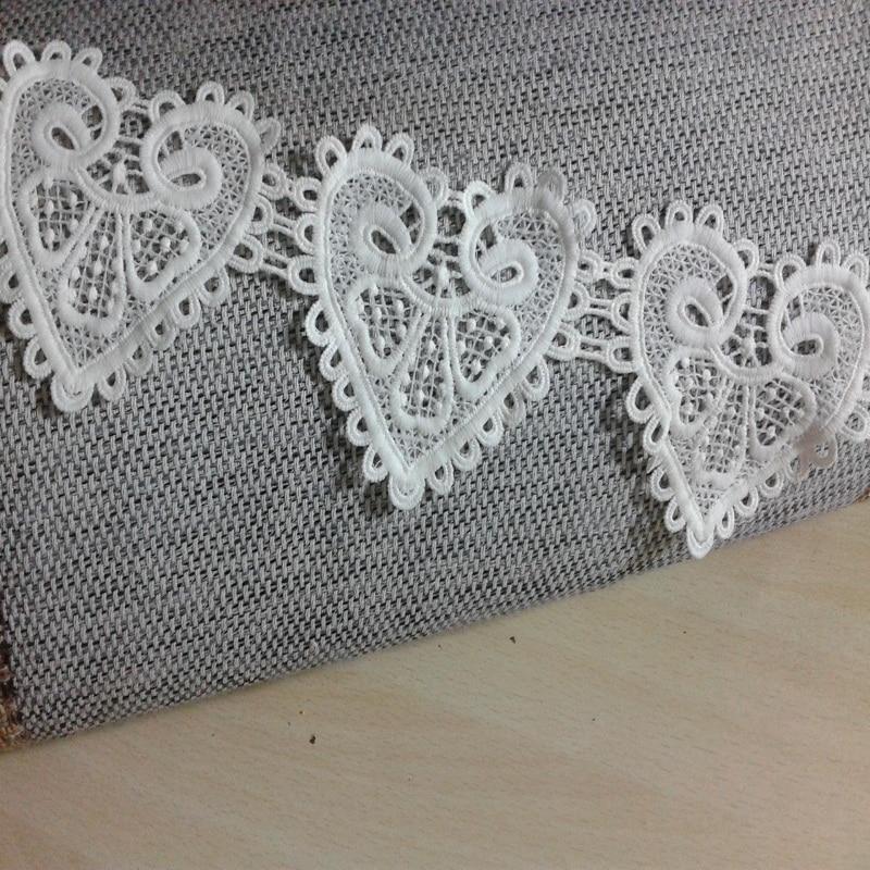 3Yards White Lace Tassle Trims Fabric Applique Venise Dress Sew On Craft DIY
