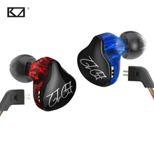 KZ ED12 Cool Colorful Phone Music Movie 3.5mm Sport Earphone DIY Dynamic MP3 Stereo Earpiece Detachable Color Earbuds