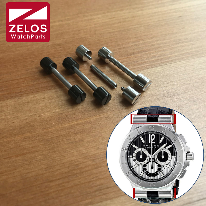 2pieces/set 24mm Watch Screw Tube Ear Bar For Bvlgari DIAGONO 42mm Watch Lug Connect Watch Strap Parts