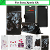 EiiMoo Wallet Capa For Sony Xperia XA Dual F3111 F3115 F3112 F3115 5.0 Cartoon Flip Leather Cover For Sony Xperia XA Phone Case