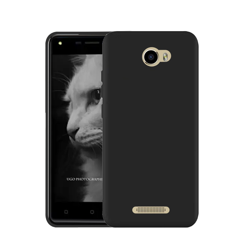 Pure Color No Picture Black Silicon TPU Case Cover for DEXP BL250 Bag Housing Shell Back Covers Phone Cases